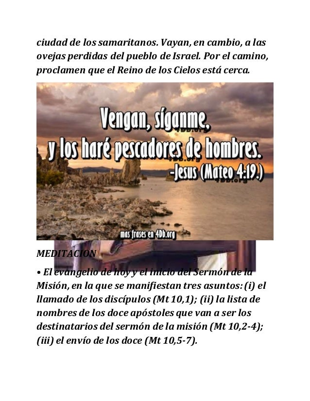 Lectio Divina Evangelio De Hoy Mateo 10 1 7