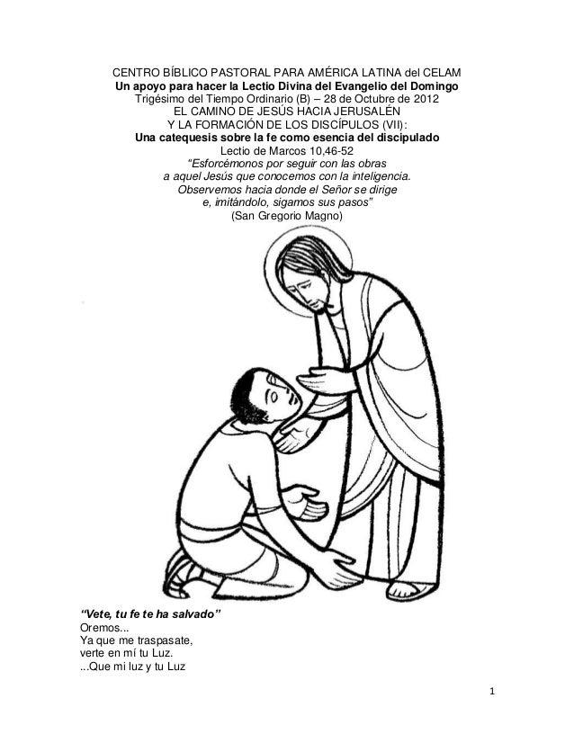 CENTRO BÍBLICO PASTORAL PARA AMÉRICA LATINA del CELAM      Un apoyo para hacer la Lectio Divina del Evangelio del Domingo ...