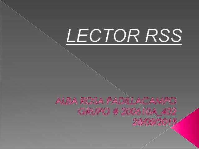 Lectores rss alba_padilla