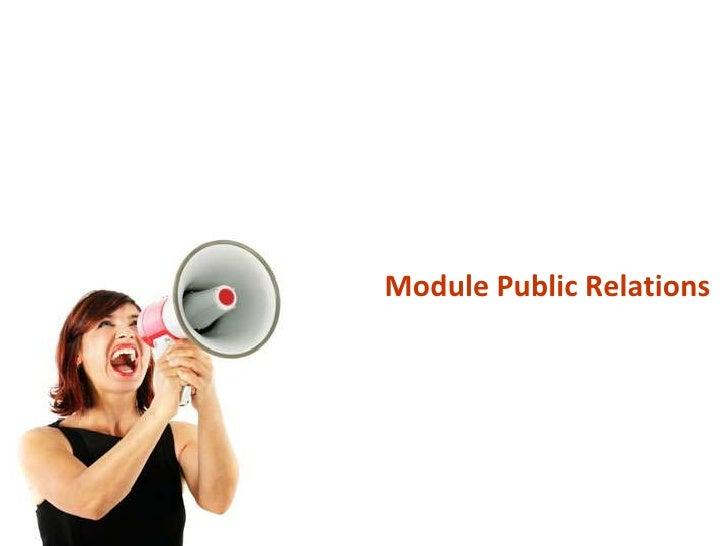 Module Public Relations<br />