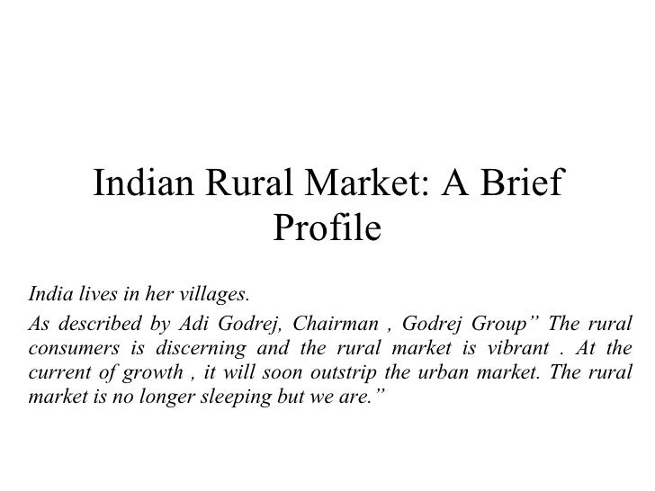 understanding the rural consumer Marketing to rural consumers: understanding & tapping the rural market potential by sanal kumar velayudhan & guda sridhar, excel books, pp 365 retailing as a business is.