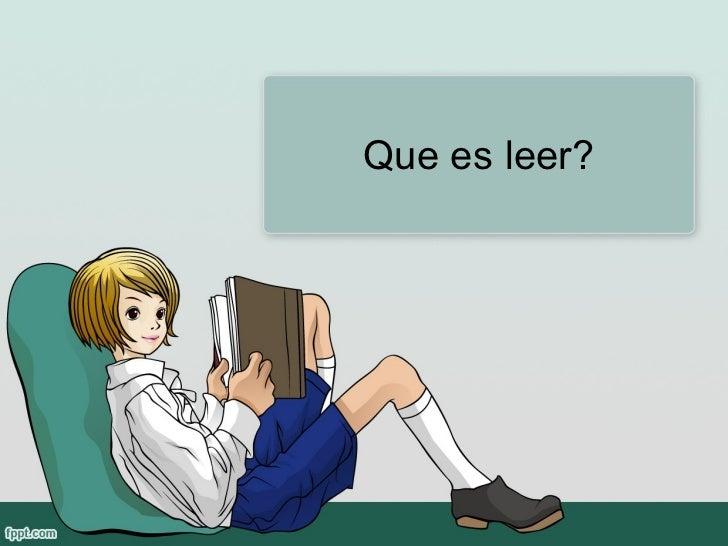 Que es leer?