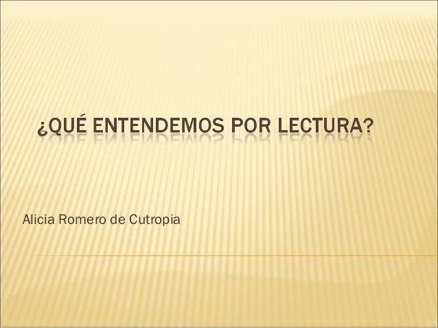Alicia Romero de Cutropia