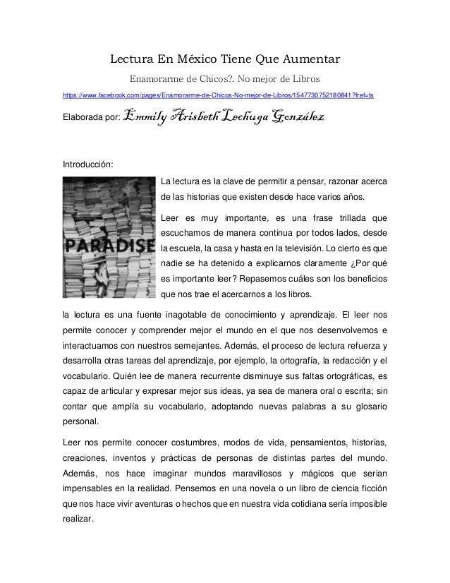 Lectura En México Tiene Que Aumentar Enamorarme de Chicos?. No mejor de Libros https://www.facebook.com/pages/Enamorarme-d...