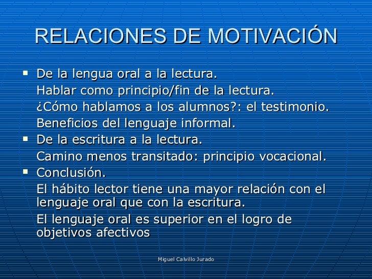 Lectura, Escritura Y Lengua Oral: relaciones Slide 3