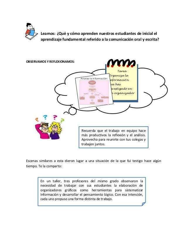 Leamos: ¿Qué y cómo aprenden nuestros estudiantes de inicial el aprendizaje fundamental referido a la comunicación oral y ...