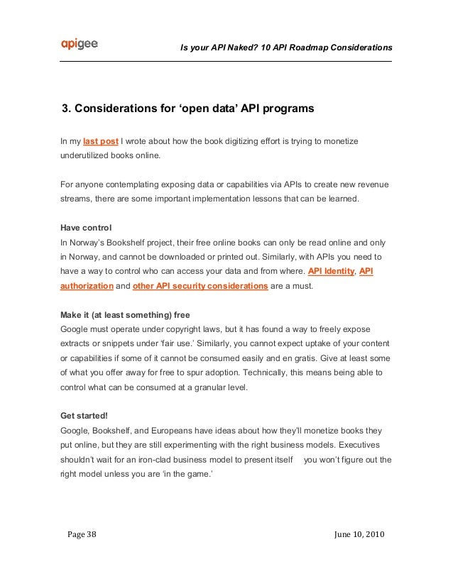 Lectura 2 4 is your api naked - 10 roadmap considerations