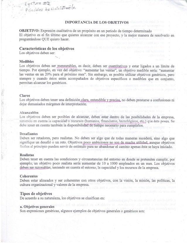 LECTURAS DE EFICIENCIA Y EFICACIA