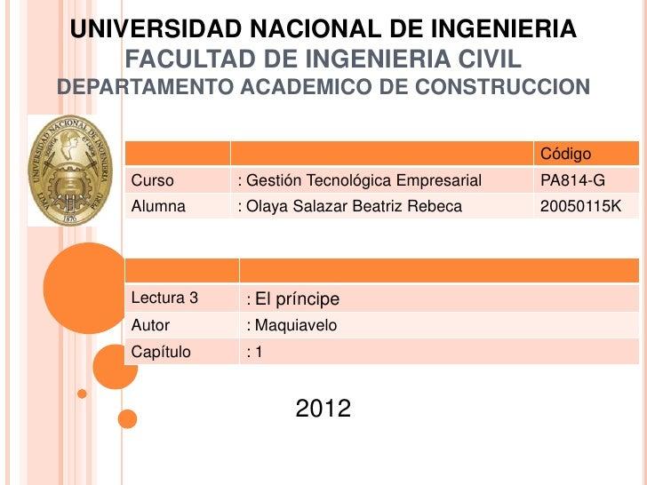UNIVERSIDAD NACIONAL DE INGENIERIA    FACULTAD DE INGENIERIA CIVILDEPARTAMENTO ACADEMICO DE CONSTRUCCION                  ...