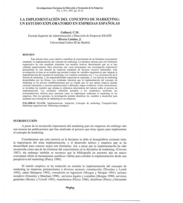 Investigaciones     Europeas de Dirección y Economía    de la Empresa                                              Vol. 3,...