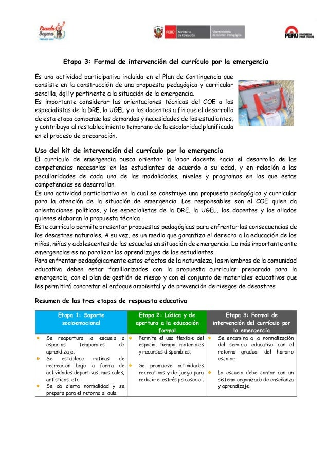 CURRICULO DE EMERGENCIA Slide 3
