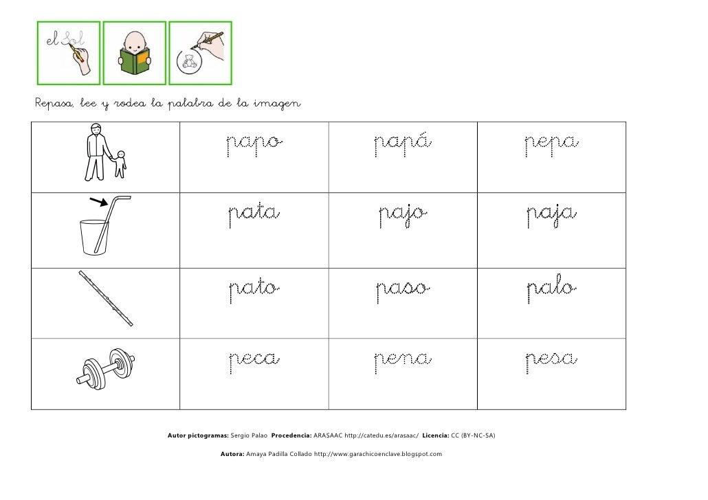 Lectura comprensiva de palabras p