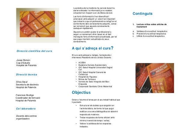 Tr ptic informatiu curs sobre lectura cr tica d 39 articles sobre pron - Oficina virtual mutua general de catalunya ...
