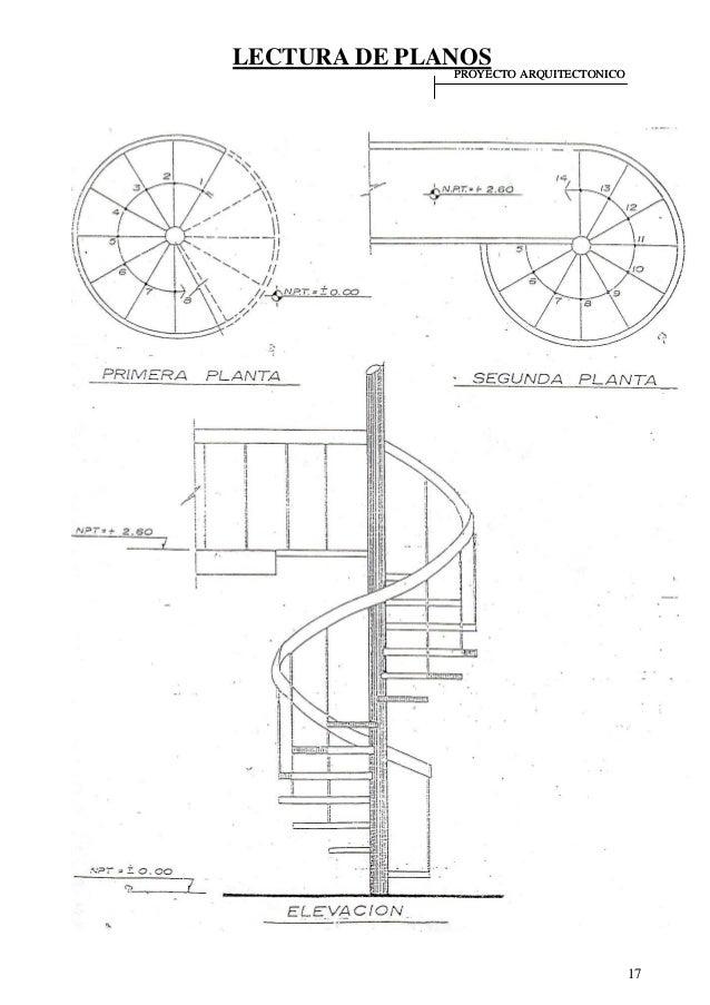Lectura de planos - Dimensiones escalera caracol ...