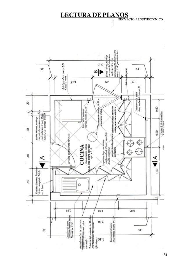 Lectura de planos for Cocina plano arquitectonico