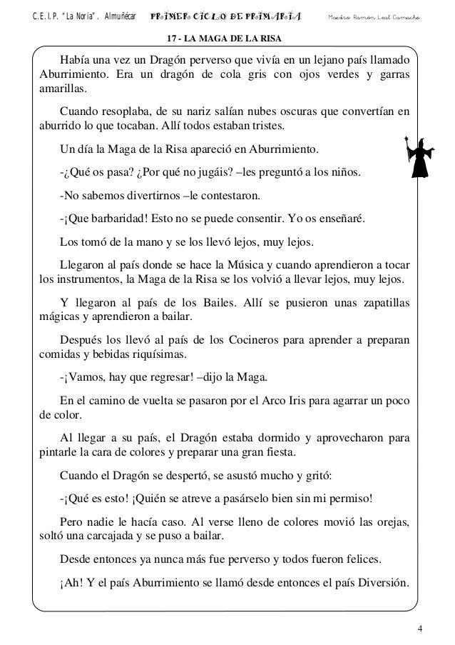 """C.E.I.P. """"La Noria"""". Almuñécar PRIMER CICLO DE PRIMARIA Maestro: Ramón Leal Camacho 17 - LA MAGA DE LA RISA Había una vez ..."""