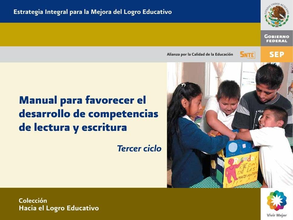 Estrategia Integral para la Mejora del Logro Educativo                                                    Alianza por la C...