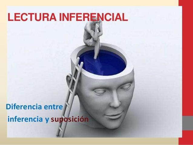 LECTURA INFERENCIAL Diferencia entre inferencia y suposición