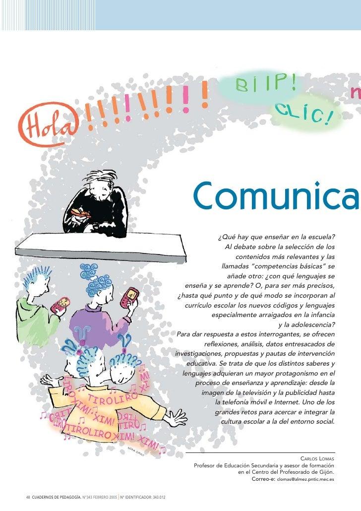 Comunica                                                                                             ¿Qué hay que enseñar ...