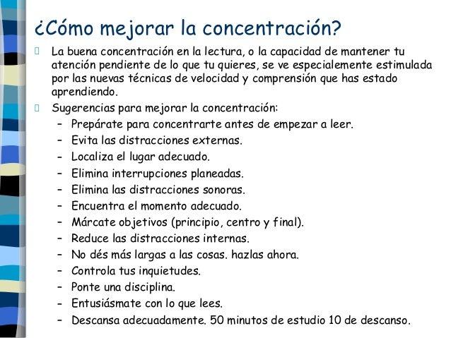 Lectura r pida - Mejorar concentracion estudio ...