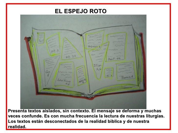 EL ESPEJO ROTO Presenta textos aislados, sin contexto. El mensaje se deforma y muchas veces confunde. Es con mucha frecuen...