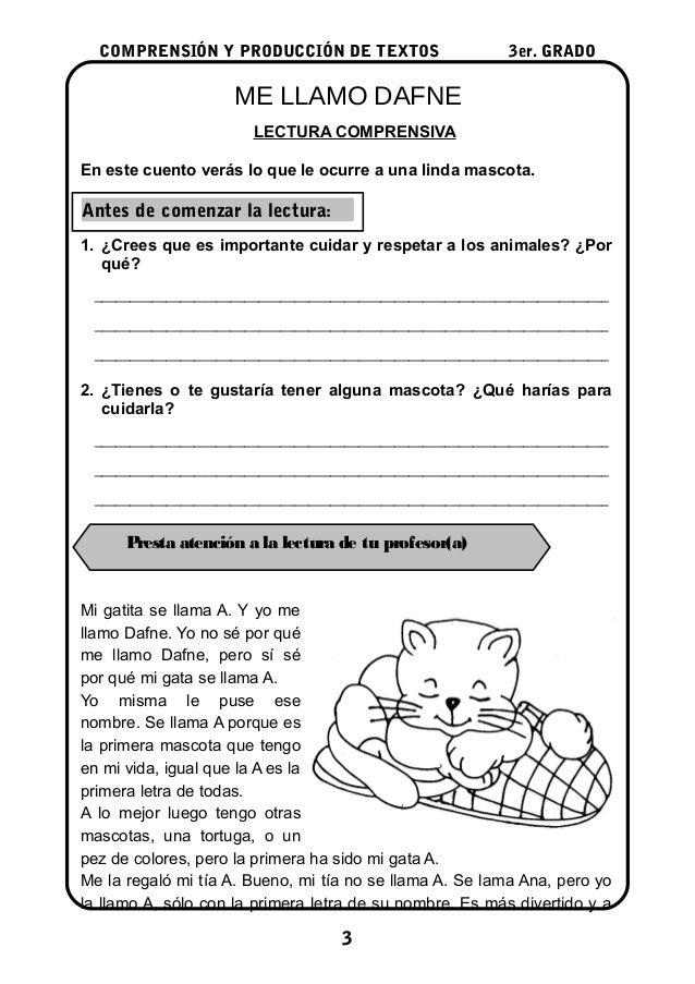Lecturas 3°