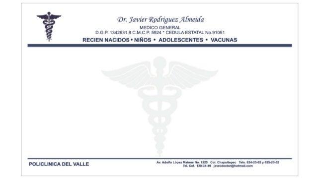 formato de recetario medico