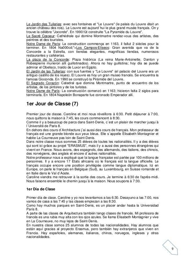 """9 Le Jardin des Tuileries: avec ses fontaines et """"Le Louvre"""" (le palais du Louvre était un ancien château des rois). Le Lo..."""