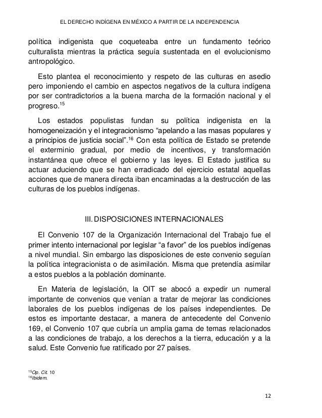 Lilia Lizeth DURÁN NEVÁREZ 13 En un principio la visión de la Organización Internacional del Trabajo respecto a pueblos in...