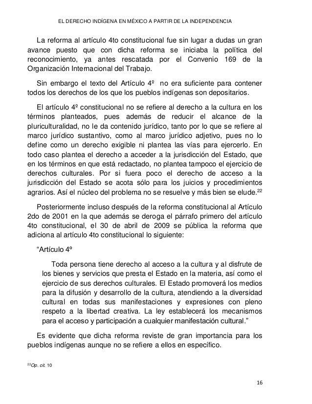 Lilia Lizeth DURÁN NEVÁREZ 17 Sin embargo, como lo menciona García Ramírez, la reforma del artículo 4º, marchó en un derro...