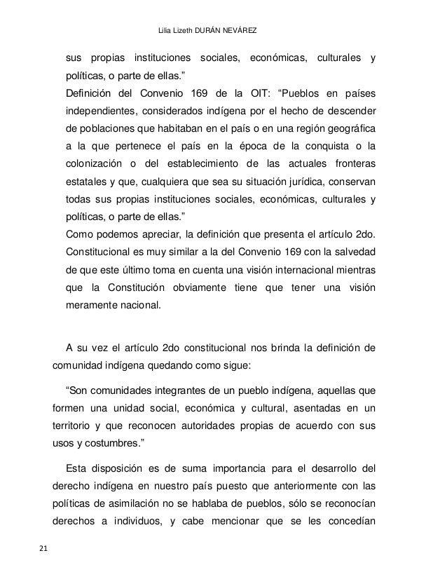 EL DERECHO INDÍGENA EN MÉXICO A PARTIR DE LA INDEPENDENCIA 22 exactamente los mismos derechos y las mismas obligaciones a ...