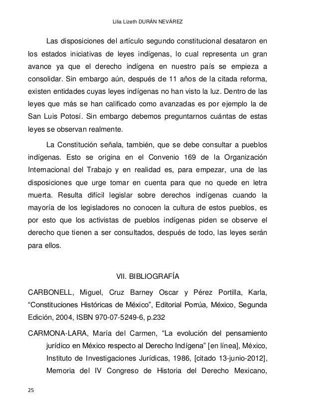 EL DERECHO INDÍGENA EN MÉXICO A PARTIR DE LA INDEPENDENCIA 26 Disponible en Internet: biblio.juridicas.unam.mx/libros/2/72...