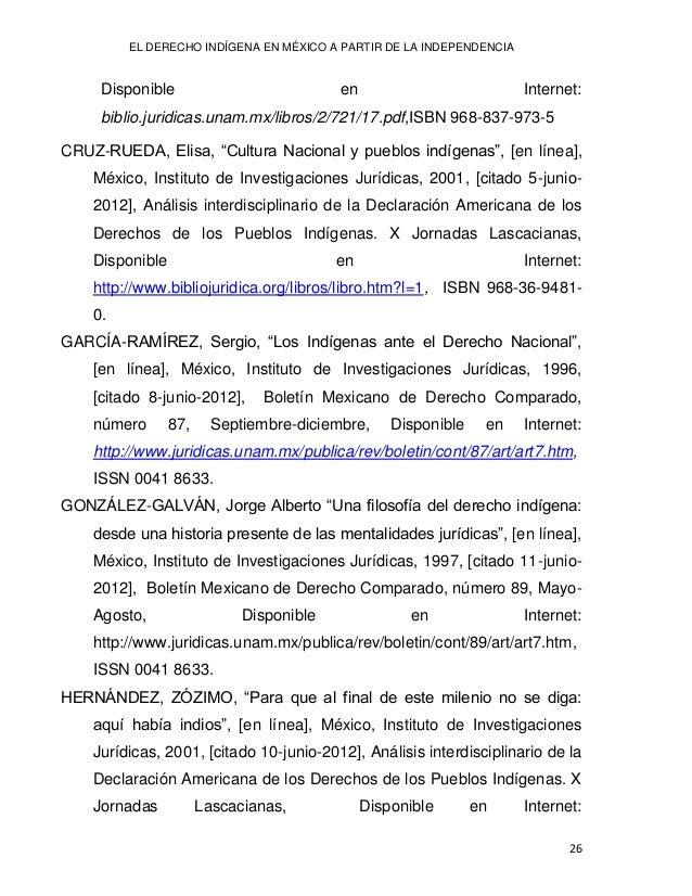 "Lilia Lizeth DURÁN NEVÁREZ 27 http://www.bibliojuridica.org/libros/libro.htm?l=1, ISBN 968-36-9481- 0. POLENZ-C., Juan, ""E..."