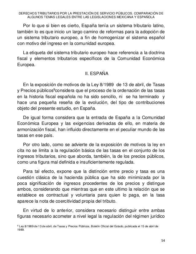 Reyes Humberto DE LAS CASAS MUÑOZ 55 del precio público y su delimitación con las tasas, ya que la teoría jurídica de la d...