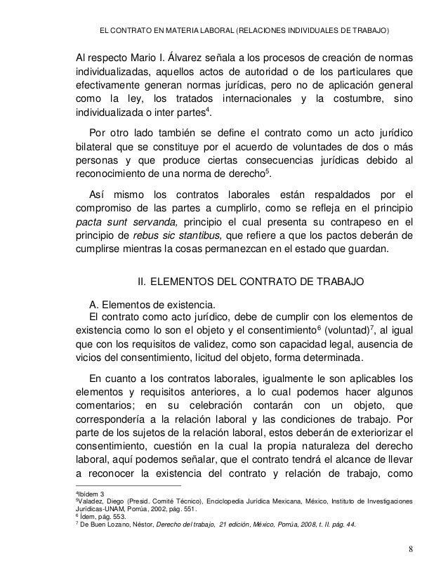 EL CONTRATO EN MATERIA LABORAL (RELACIONES INDIVIDUALES DE TRABAJO) 10 en la aptitud para ser titular de derechos y obliga...