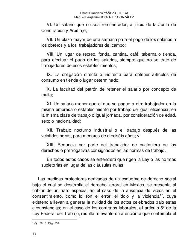 Oscar Francisco YÁÑEZ ORTEGA Manuel Benjamín GONZÁLEZ GONZÁLEZ 15 artículo 5º de la Constitución Política de los Estados U...
