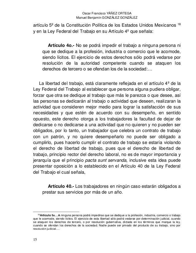 Oscar Francisco YÁÑEZ ORTEGA Manuel Benjamín GONZÁLEZ GONZÁLEZ 17 Azuela Güitrón, Mariano, et al., Garantías Sociales, 2ª ...