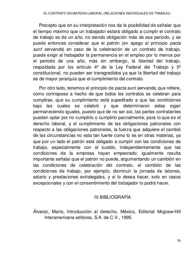 EL CONTRATO EN MATERIA LABORAL (RELACIONES INDIVIDUALES DE TRABAJO) 18 LEGISLACION: Código Civil del estado de Nuevo León ...