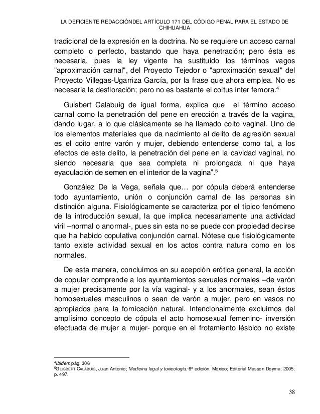 LA DEFICIENTE REDACCIÓNDEL ARTÍCULO 171 DEL CÓDIGO PENAL PARA EL ESTADO DE CHIHUAHUA 40 Se trata del principio de la exact...