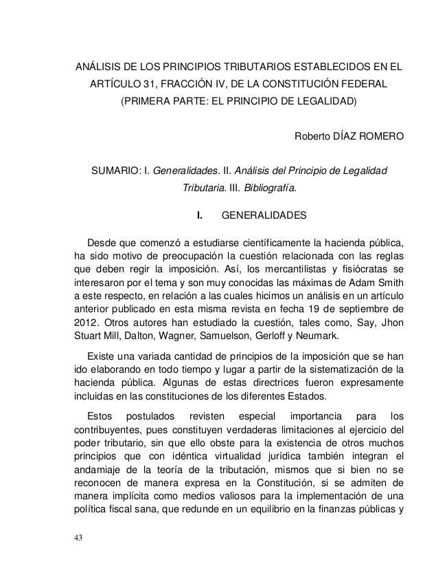 Roberto DÍAZ ROMERO 45 son comunes a todos los ámbitos jurídicos y que también hallan cabida en el plano fiscal, como serí...
