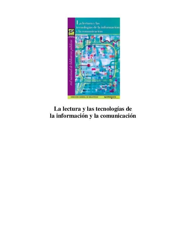 La lectura y las tecnologías de la información y la comunicación