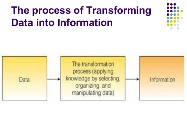 transforming data into information As an analyst at nichq, i frequently need to turn data and information into visual  assets to tell a story making sure that those visuals are both informative and.