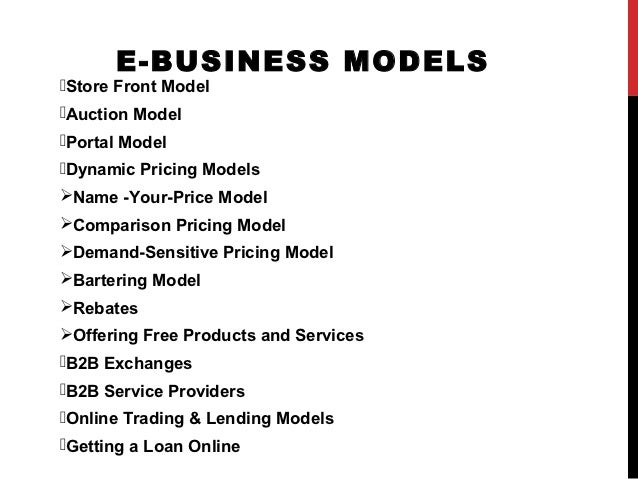 e business model Definition the b2b e-business model works in the same manner as other b2b models the goal is to connect businesses to their suppliers, distributors and other parts of the supply chain.