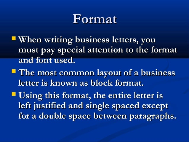Lecture 05 business letter with sample