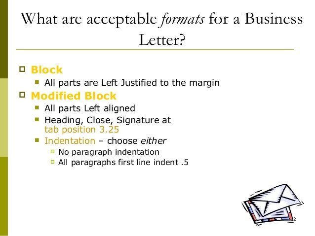 Lecture 05 writing a business letter 12 what are acceptable formats for a business letter spiritdancerdesigns Choice Image