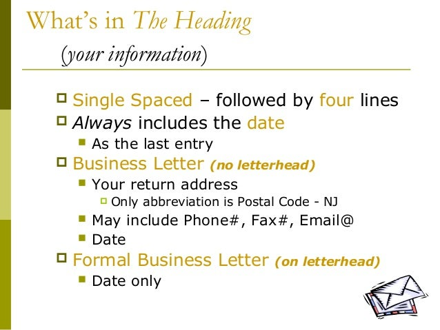 Lecture 05 writing a business letter 5 altavistaventures Choice Image