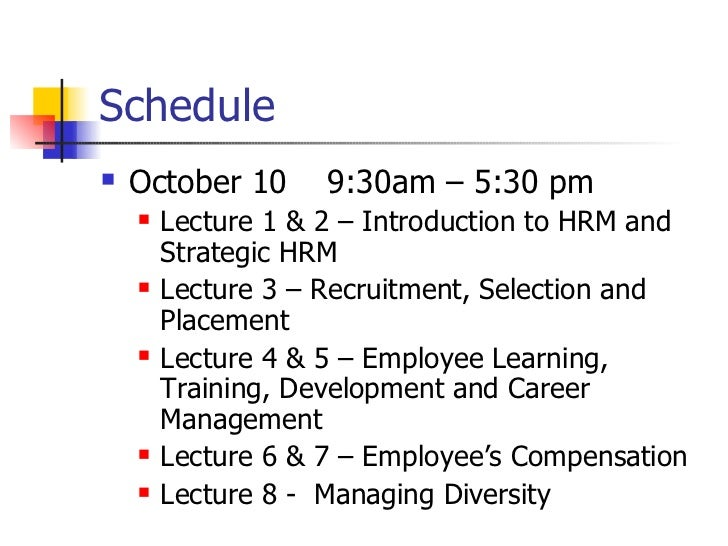 hrm lecture 6 Download this hrm 3400 class note to get exam ready in less time class note uploaded on sep 21, 2016 3 page(s.