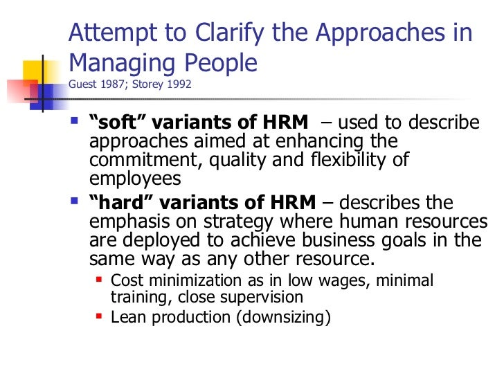 what is meant by strategic approach to hrm Chapter 1 human resource management learning objectives • explain what is meant by human resource management • understand the strategic approach to hrm.