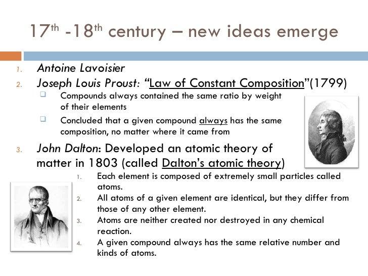 joseph louis proust contribution in atom