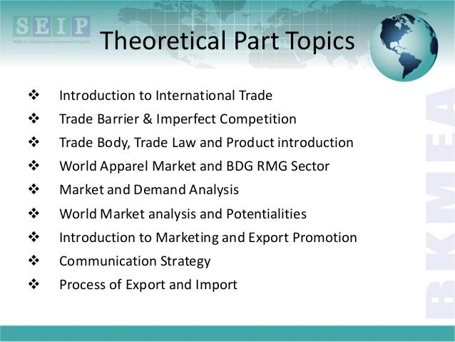 Lecture 1: Introduction to International Trade